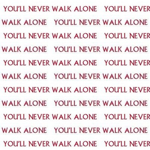 you'll never walk alone fabric - liverpool