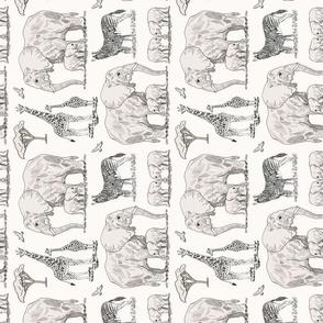 safari sepia 8 inch tea towel