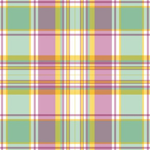 Mint, Rose and Goldenrod Plaid by Paducaru