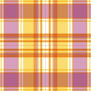 Rose and Goldenrod Plaid by Paducaru