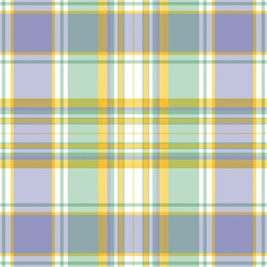 Lavender Goldenrod and Green Plaid by Paducaru