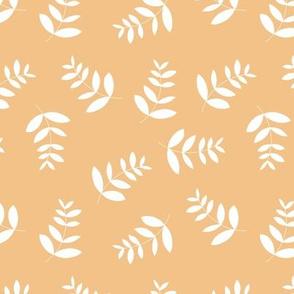 Boho island vibes tropical palm leaves minimal garden print nursery honey yellow