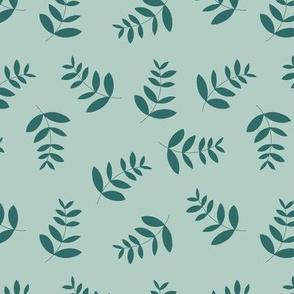 Boho island vibes tropical palm leaves minimal garden print nursery sage green forest