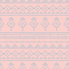 Minimal boho mudcloth bohemian ethnic abstract indian summer aztec design nursery girls pink blue SMALL