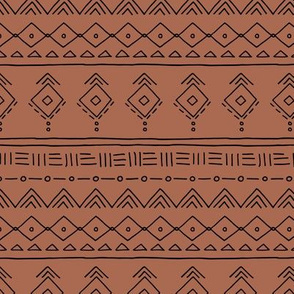 Minimal boho mudcloth bohemian ethnic abstract indian summer aztec design nursery gender neutral rusty copper fall SMALL