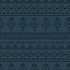 Minimal boho mudcloth bohemian ethnic abstract indian summer aztec design nursery gender neutral midnight navy blue SMALL