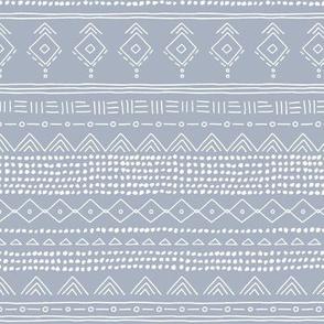 Minimal boho mudcloth bohemian ethnic abstract indian summer aztec design nursery moody blue gender neutral SMALL