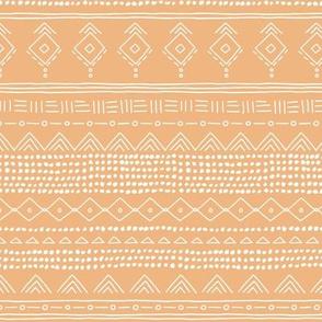 Minimal boho mudcloth bohemian ethnic abstract indian summer aztec design nursery honey yellow gender neutral SMALL