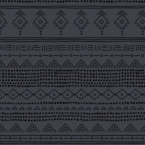 Minimal boho mudcloth bohemian ethnic abstract indian summer aztec design nursery winter charcoal gray black gender neutral SMALL