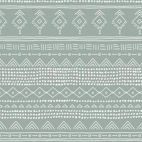 Minimal boho mudcloth bohemian ethnic abstract indian summer aztec design nursery winter soft sage green gray gender neutral SMALL