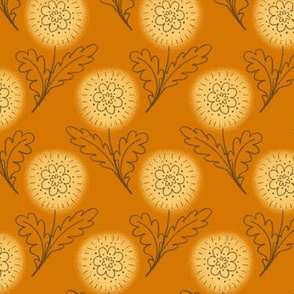 Doodle Chrysanthemum - Orange