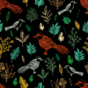 Birds and Leaves