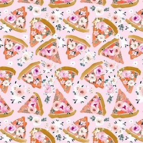 floral pizza on pink M