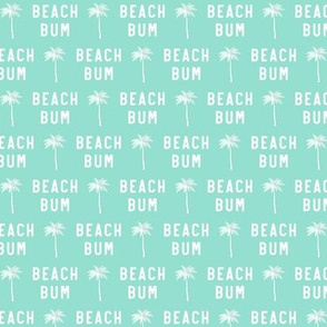 (small scale) beach bum - teal - C20BS