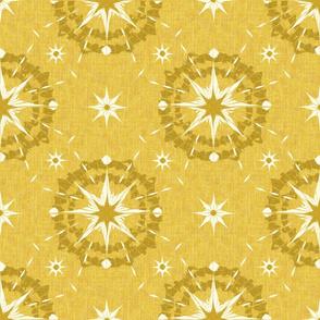 Sunburst Tie Dye - Gold