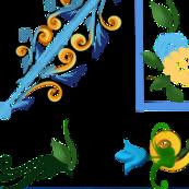 Summer,Sicilian style floral art