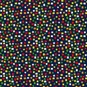 Confetti Navy (Micro Print)