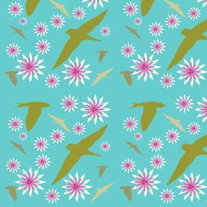 Barn Swallows Soaring