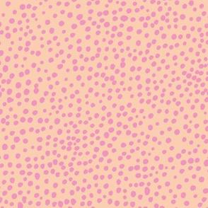 Cheetah wild cat spots boho animal print abstract basic spots and dots in raw ink cheetah dalmatian neutral girls pink peach