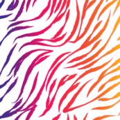 90s Wild Stripes Rainbow White