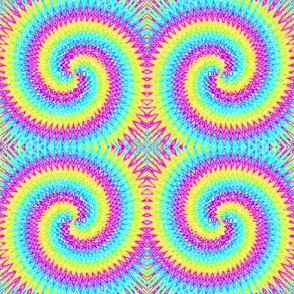 09862642 : tie-dye archimedean spiral