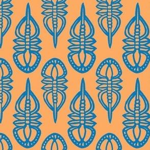 Pagetia bootes, medium - blue and orange