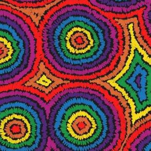 Rainbow Chalk Tie Dye  - © creative8888