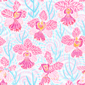 "Ms.Joaquim Orchids Tie-dye 8"""