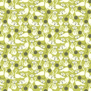 Cats Lime Green