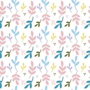 Rainbow Leaf Pattern