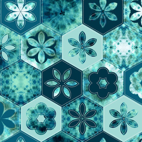 tie-dye hexagon