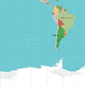 Large World Map Panel