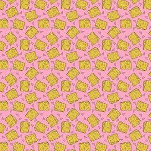 SMALL cheese // swiss cheese pink funny novelty food kids