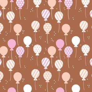 Party balloon fun birthday wedding theme in modern boho rust pink peach girls