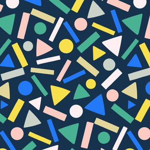 nugget geometry navy by Pippa Shaw