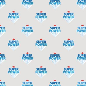 Super power boys nursery empowerment super hero print typography blue gray small
