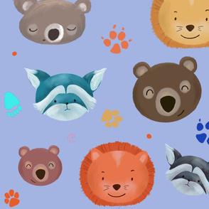 little wild animals_ lila background
