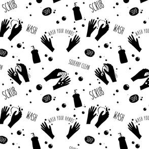 Soap hands black