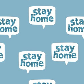 Inspirational text design stay home save lives corona virus cool blue leopard spots