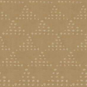 20-04r Boho Triangle Dots Yellow Gold Ochre