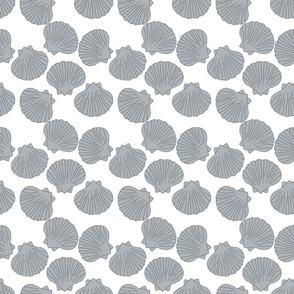 shell grey on white