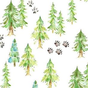 Forest Trees & Animal Tracks - MEDIUM scale