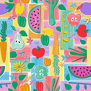 Fruit and Veg Paper Cut