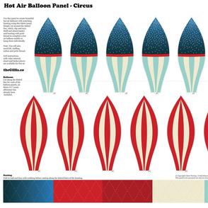 Hot Air Balloon Panel - Circus