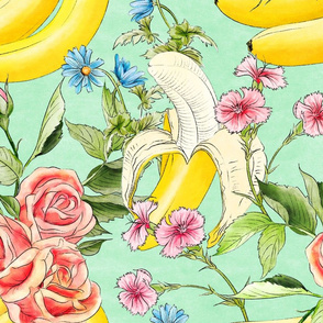 Banana chintz mint