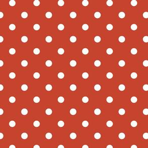 Rust Red Polkadots