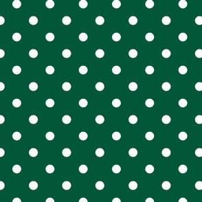 Forest Green Polkadots
