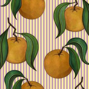 Orangepattern Stripes Purple Large