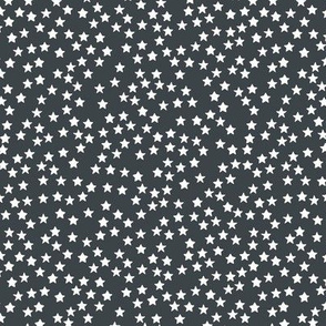 Little sparkly stars romantic boho night basic sky design nursery neutral charcoal gray white