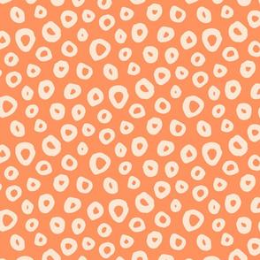 dreamscape smoke rings orange large scale by Pippa Shaw L